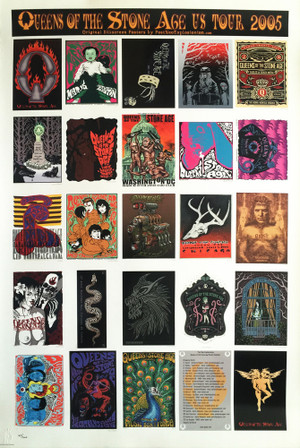"""""""QUEENS OF THE STONE AGE""""  - Uncut Postcard Sheet"""