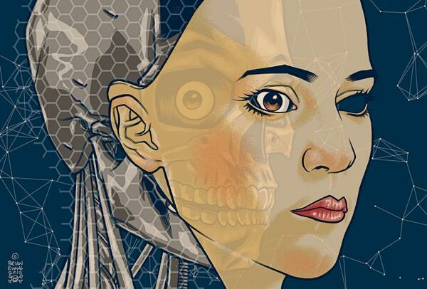 EX MACHINA Original Art two pieces