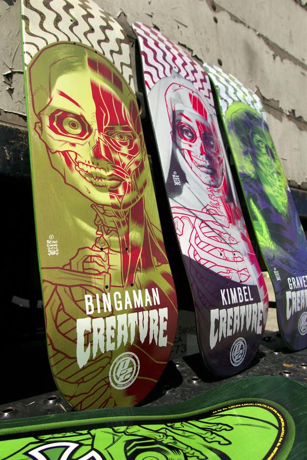 """REYES SKATE DECK"" creature skateboards"