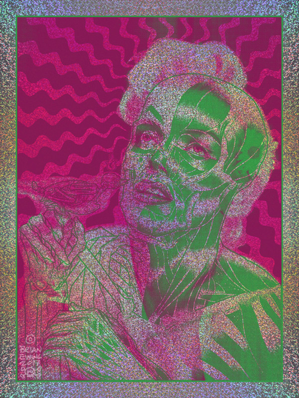 """""""MARILYN"""" Pink & Green Colorway FOIL"""