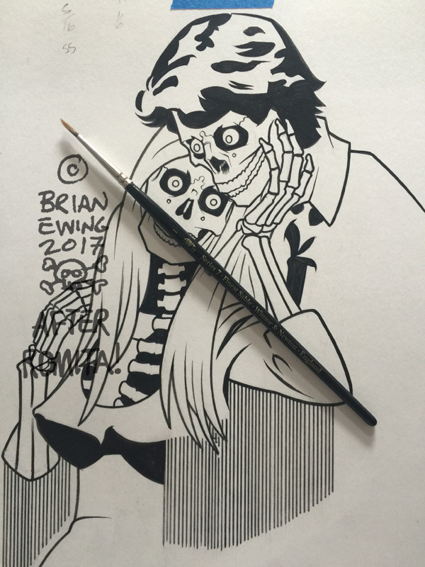 """  QUEENS OF THE STONE AGE"" 6 original art TITLE ART"
