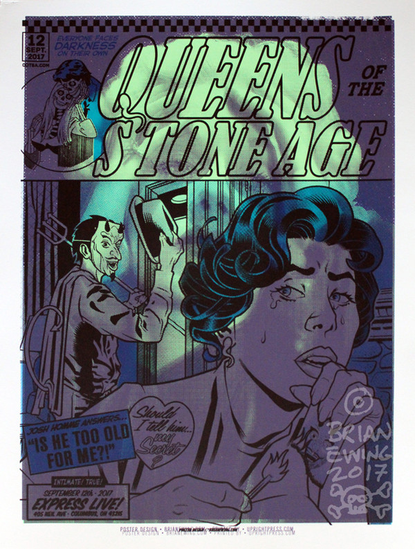 """""""  QUEENS OF THE STONE AGE GREEN DAY"""" test print 3"""