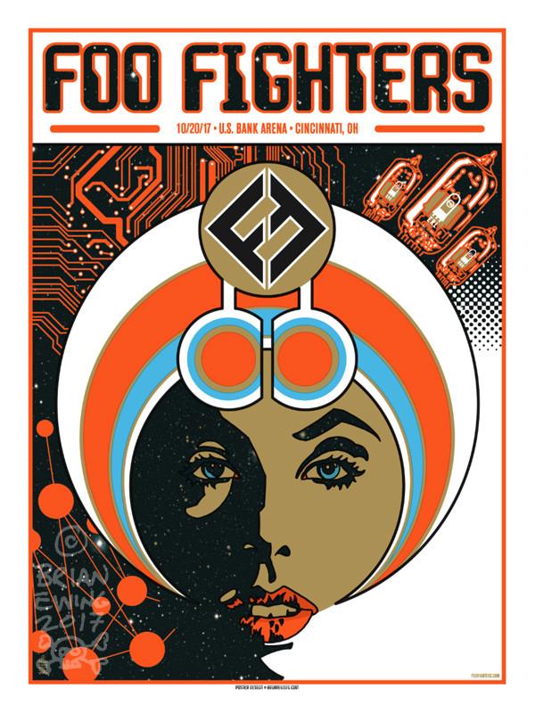 """   FOO FIGHTERS"" CINCI Artist Proof"