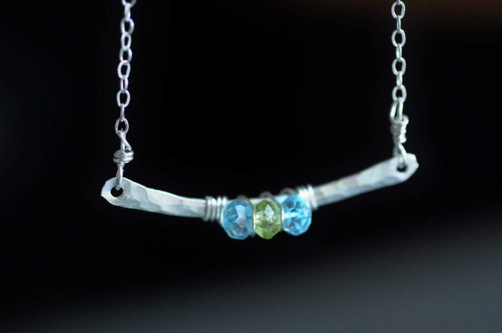 BRIDGE - Design Your Own birthstone / gemstone necklace
