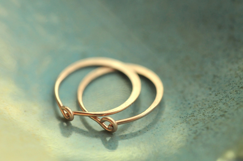 "classic 7/16"" (11mm) artisan forged hoop earrings"