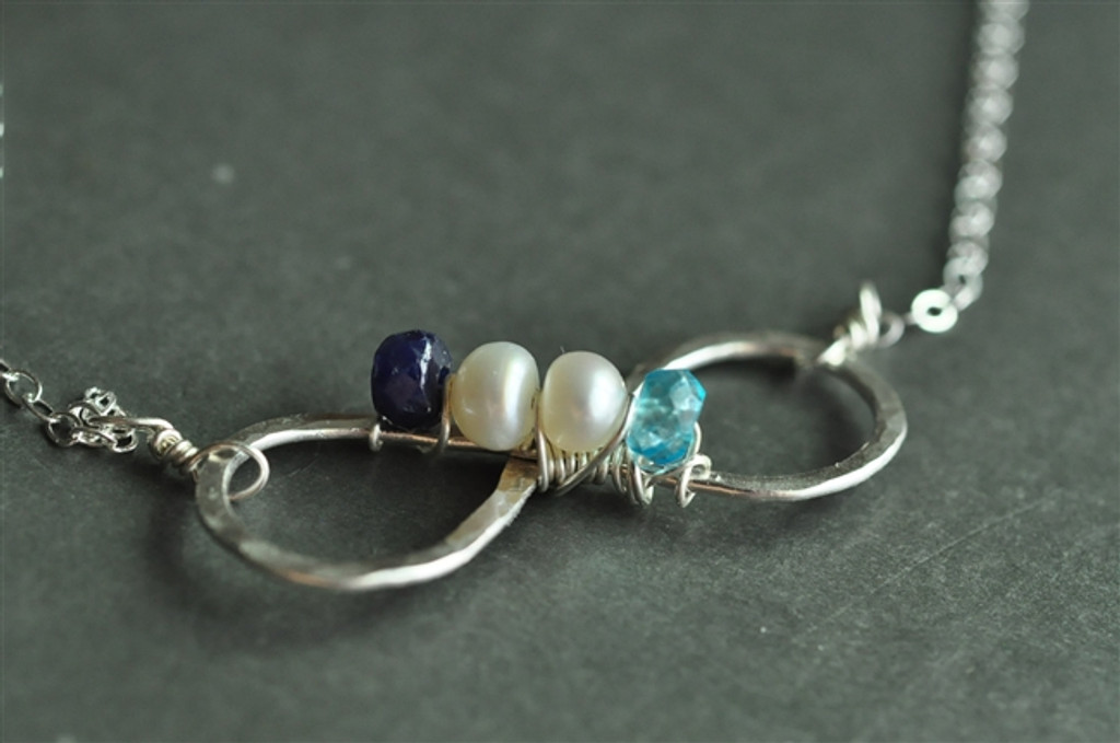 INFINITE LOVE mother's birthstone necklace