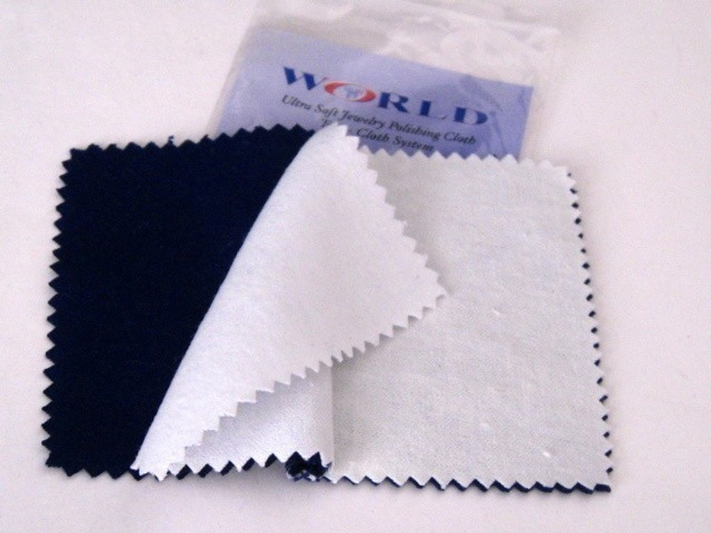 jewelry polishing cloth--ultra soft two cloth system