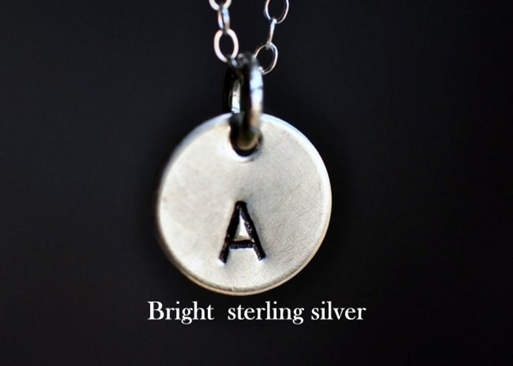 TINY INITIAL (and/or symbol) necklace - sterling silver