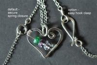 OPEN HEART custom grandmother's / mother's birthstone necklace (6 stones)