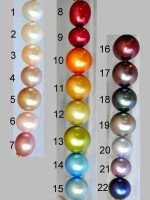 custom simple wire wrap pearl necklace - choose from 22 colors