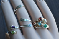adjustable gemstone ring - muyinjewelry.com