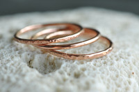 14k rose gold filled skinny stacking rings