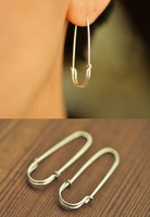 safety pin earrings - solid 18k gold, white gold, rose gold | muyinjewelry.com