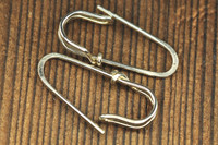 safety pin earrings sterling silver or 18k gold| muyinjewelry.com