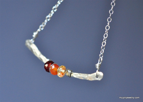 Design Your Own birthstone gemstone necklace