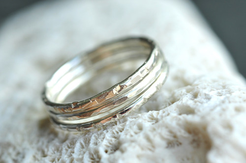 skinny stacking ring set in sterling silver