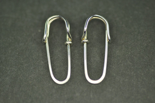 safety pin earrings sterling silver or 14k gold filled | muyinjewelry.com