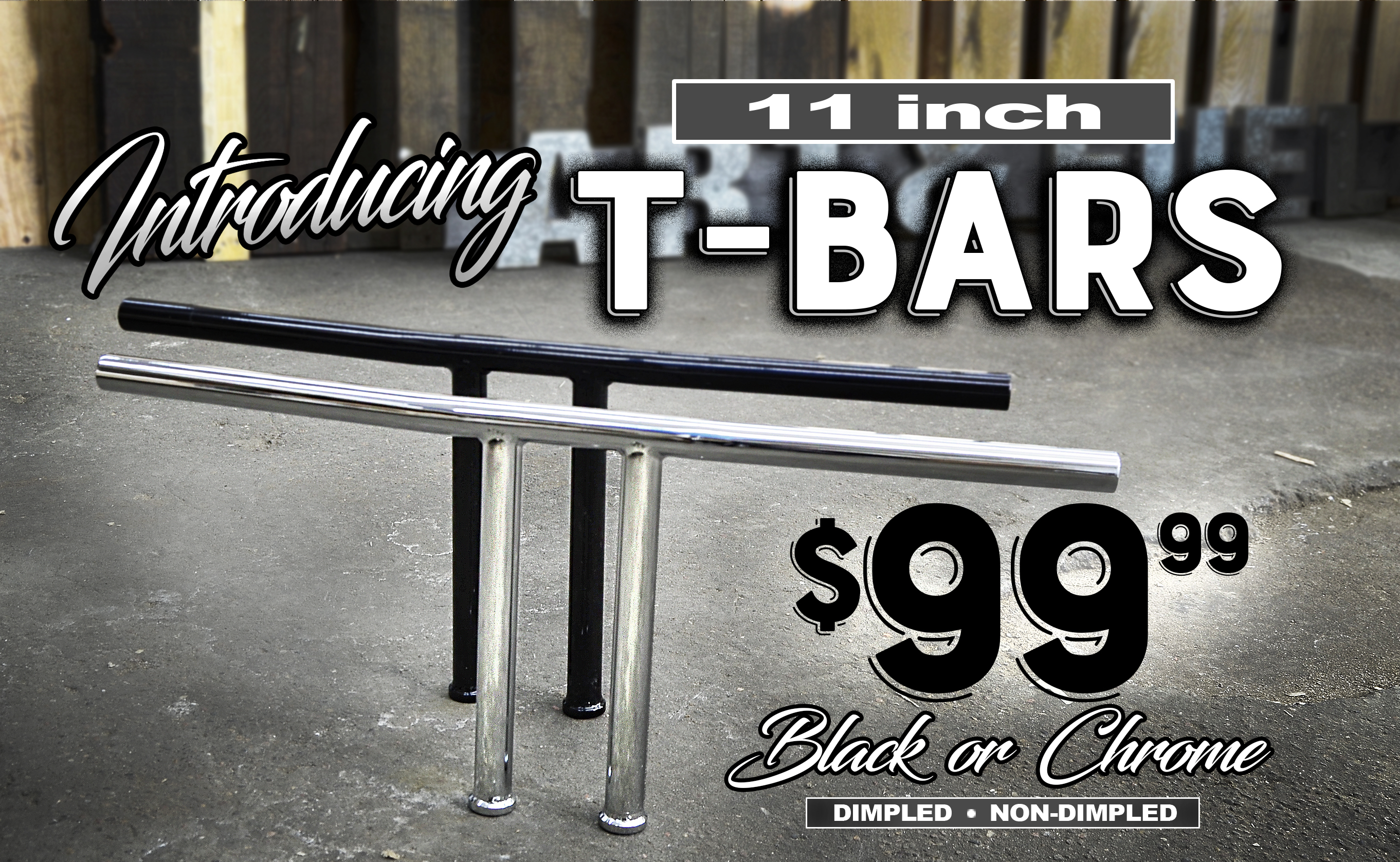 Introducing Throttle Addiction's 11-inch T-Bars for Harley Davidson Triple Trees