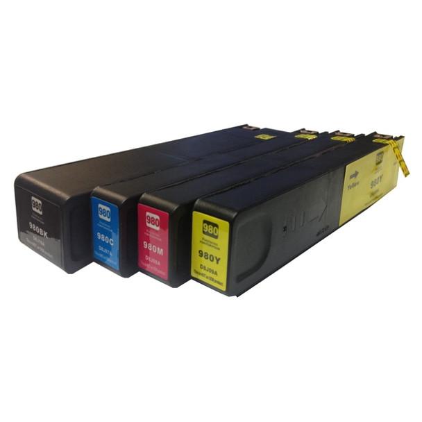 980XL Premium Pigment Inkjet Compatible Set (4 Cartridges)