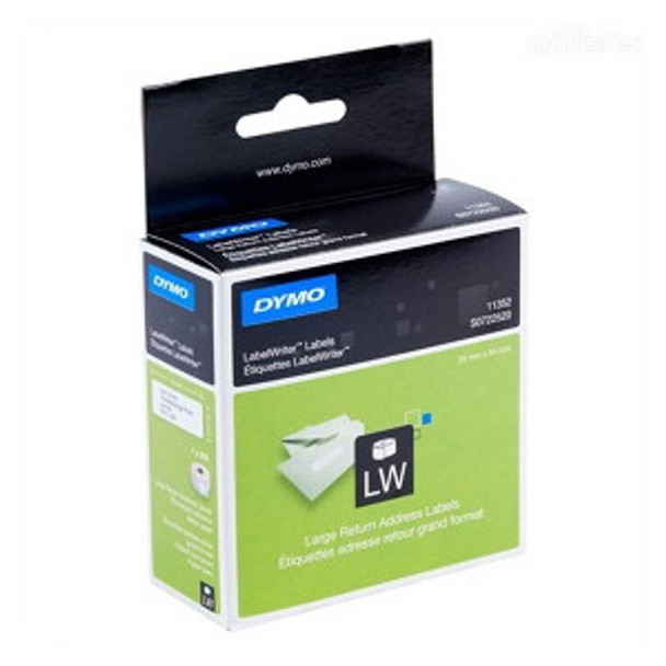 DYMO RETURN ADDRESS - PAPER/WHITE 25mm x 54mm 1 Roll/Box 500 Labels/Roll (SD11352)