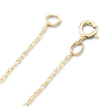 14K Gold Fine Rope Chain 0.75mm
