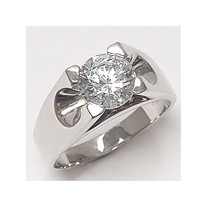 Craig Round Men's Designer Inspired CZ Ring, 2.0 Ct TW