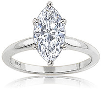 Marquise Cubic Zirconia Classic Solitaire Engagement Ring