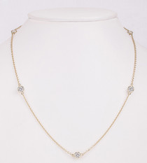 CZ By The Yard Bezel Rounds Station Necklace