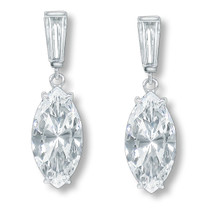 Bijou Baguette Top with Marquise Drop Cubic Zirconia Earrings