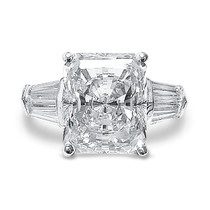 Starburst Emerald Cut Double Baguette CZ Engagement Ring