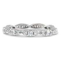 Clementine CZ Rounds Wavy Stacking Eternity Band