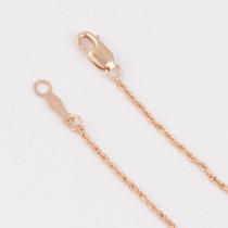 14K Gold Diamond Cut Rope Chain 1.0mm