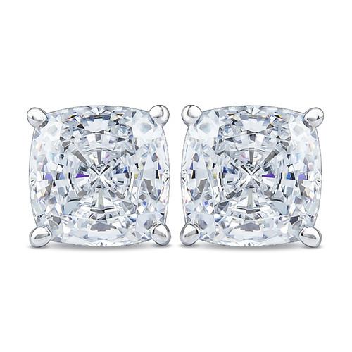 Cushion Cut Cubic Zirconia Stud Earrings