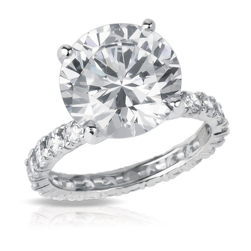 Round Eternity Solitaire on Round CZ Eternity Band