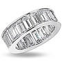 Baguette Channel Set CZ Eternity Band