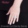 Emerald Cut Classic Prong Set Cubic Zirconia Eternity Band
