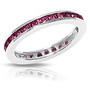 Channel Set Round Colors Stacking Eternity Band