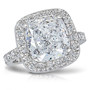 Brenina Cushion Cut CZ Halo Solitaire Engagement Ring