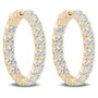 Remi Vault Lock Front Facing CZ Oval Shaped Hoops, 11.0 Carats Total