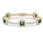 Naples Asscher with Rounds Halo Link CZ Bracelet