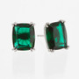 Split Prong Elongated Cushion Cut Stud Earrings