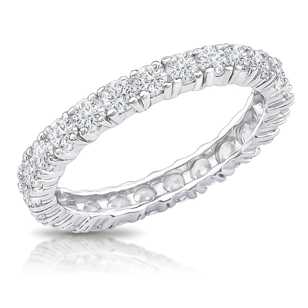 gold cz plated band in sterling eternity p white zirconia bands cubic over ring silver wedding round garland