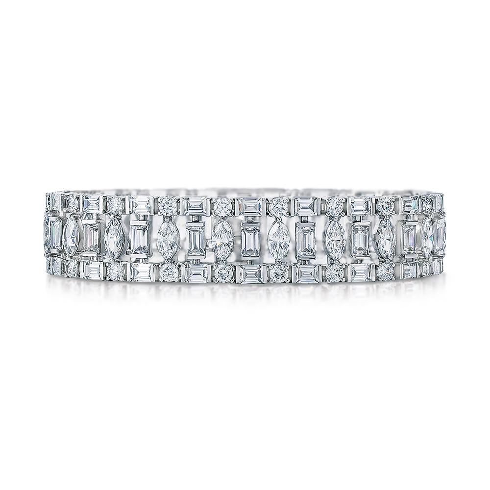 platinum jewelry amazon sterling silver dp plated tennis cubic bracelet zirconia and ca