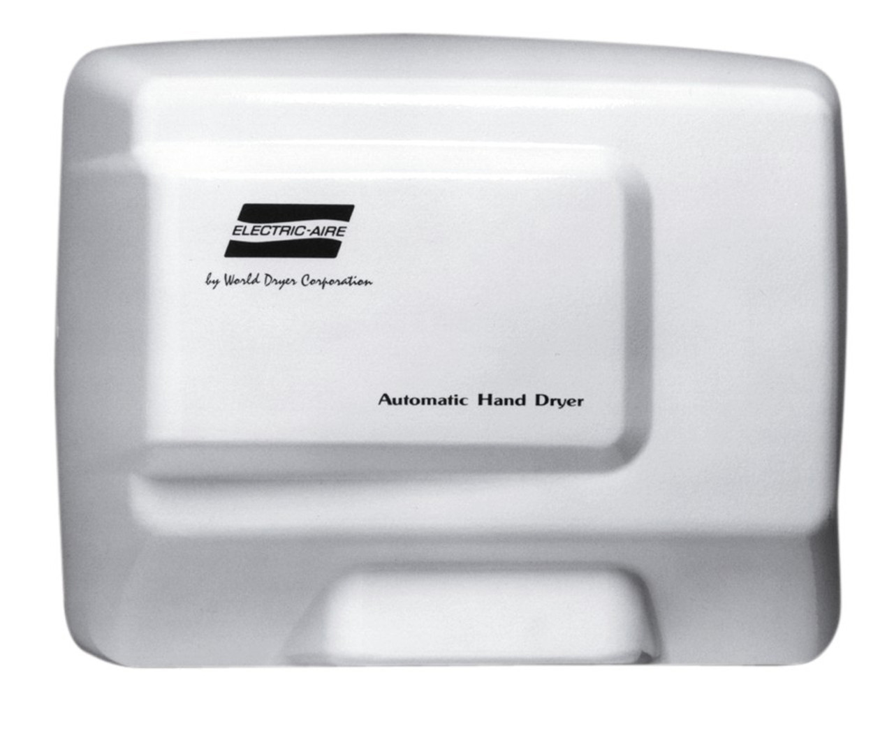 world dryer electric aire le 974 aluminum white automatic hand dryer - Air Hand Dryers