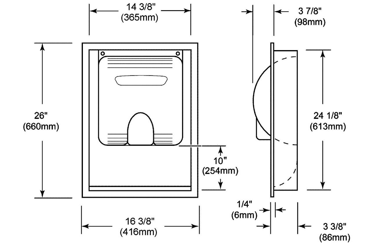 xlerator recess kit excel dryer recess kit 40502 rh handdryersupply com Bobrick Hand Dryers Xlerator Hand Dryer White