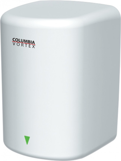 PSiSC Columbia Vortex HD-615-210 (110-120V) and HD-625-210 (220-240V) White Steel Automatic Surface Mount Hand Dryer