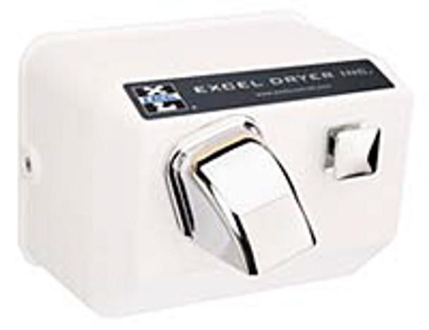 Excel Dryer Cast Hands On 76-W Push Button White 120 Volt Hand Dryer