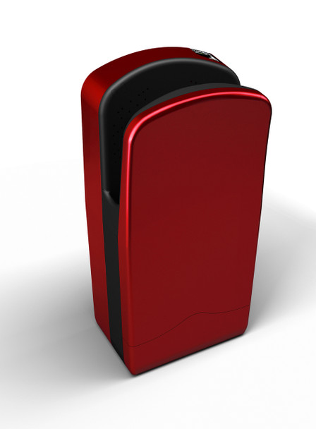 The Cherry Red Veltia V7 Hand Dryer