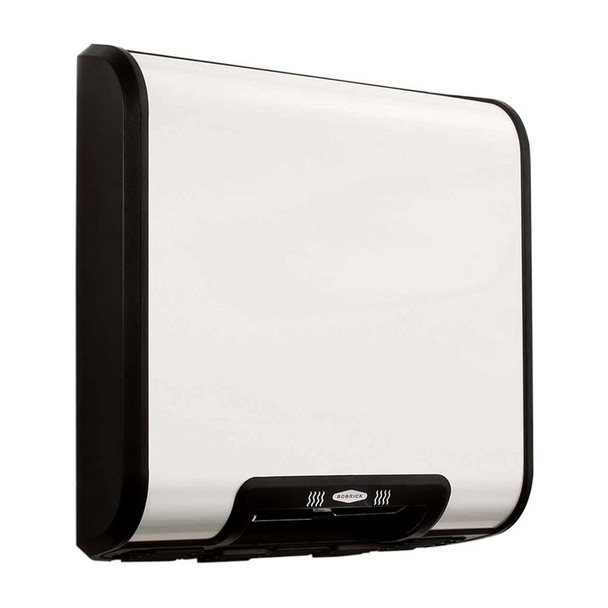 Bobrick B-7120 TrimDry Hand Dryer has a white epoxy painted steel cover. Previously known as the Trimline.