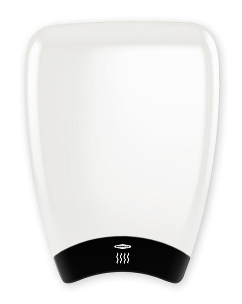 High Speed TerraDry Bobrick B-7180 ADA Hand Dryer has a white epoxy painted aluminum cover.